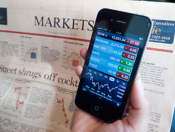 Checking stock market data using iPhone 4G