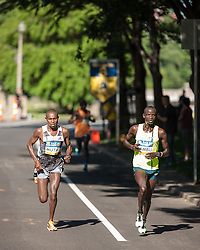 Boston Athletic Association 10K road race: Geoffrey Mutai, Stephen Sambu pass 8K marker in USA all-comers record time