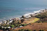 Houses line the Malibu coastline.