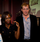 MICHELLE GAYLE;  ALASTAIR CAMPBELL;  .   June Sarpong  celebrates launch of her new political website, PoliticsAndTheCity.com. Institute Of Contemporary Arts (ICA), The Mall, London, SW1 8 July 2008 *** Local Caption *** -DO NOT ARCHIVE-© Copyright Photograph by Dafydd Jones. 248 Clapham Rd. London SW9 0PZ. Tel 0207 820 0771. www.dafjones.com.