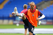 Tom Thorpe of Bolton Wanderers  warms up before during the EFL Sky Bet League 1 match between Bolton Wanderers and Bradford City at the Macron Stadium, Bolton, England on 24 September 2016. Photo by Simon Brady.