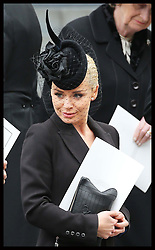 Katherine Jenkins leaving  Baroness Thatcher's funeral at St.Paul's Cathedral in London at the end of her funeral Wednesday 17th  April 2013 Photo by: Stephen Lock / i-Images