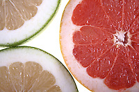Grapefruit on white background - studio shot