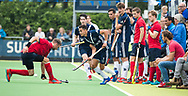 AMSTELVEEN - Camil Papa (Pinoke)   Play Outs Hockey hoofdklasse. Pinoke-Nijmegen (1-1) . Pinoke wint de shoot outs en blijft in de hoofdklasse. COPYRIGHT KOEN SUYK