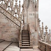 Milan, Italy, December 24, 2014. An aerial view of the city from the Duomo rooftop Terraces.<br /><br />Milano, Italia, Dicembre 2014. Veduta della città dalle terrazze del Duomo di Milano.