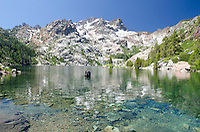 Upper Sardine Lake and the Sierra Buttes in Tahoe National Forest, California.