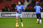 Aston Villa midfielder Henri Lansbury (5) with a World Cancer Day T shirt during the EFL Sky Bet Championship match between Nottingham Forest and Aston Villa at the City Ground, Nottingham, England on 4 February 2017. Photo by Jon Hobley.