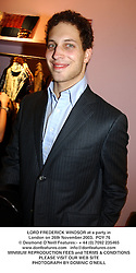 LORD FREDERICK WINDSOR at a party in London on 26th November 2003.<br /> POY 76
