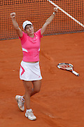 Roland Garros. Paris, France. June 9th 2007..Women's Final..Justine HENIN won against Ana IVANOVIC.
