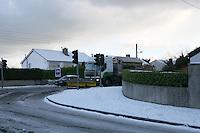 Snow plough on Rochestown Avenue Dublin in the snow November 2010