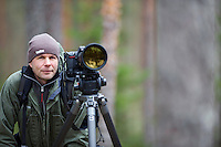 21.04.2009.Nature photographer Erlend Haarberg in Bergslagen, Sweden.