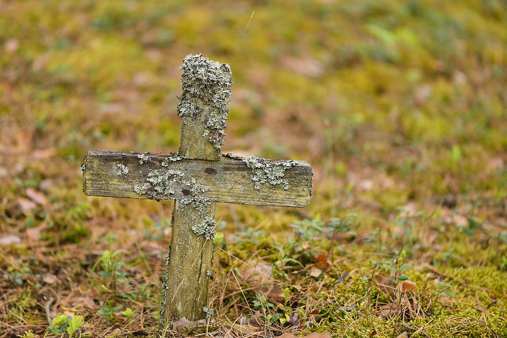 Old graves in Musteika Village, on the border of the Cepkeliai reserve and the Dzukija National Park, Lithuania, EU