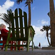 Sunrise along Lake Worth Beach near Palm Beach, Florida. MR Model Release<br /> Photography by Jose More