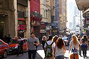 A street scene in Porte Alegre, Brazil.
