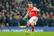 Arsenal defender Shkodran Mustafi (20) during the Premier League match between Chelsea and Arsenal at Stamford Bridge, London, England on 21 January 2020.