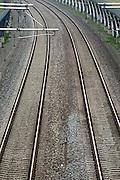 Nederland, Andelst, 8-9-2013De betuweroute.De treinen moeten in Duitsland op het bestaande spoor, waardoor vertraging ontstaat.Foto: Flip Franssen/Hollandse Hoogte