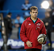 Head Coach Johann van Graan of Munster during the pre match warm up<br /> <br /> Photographer Simon King/Replay Images<br /> <br /> Guinness PRO14 Round 4 - Cardiff Blues v Munster - Friday 21st September 2018 - Cardiff Arms Park - Cardiff<br /> <br /> World Copyright © Replay Images . All rights reserved. info@replayimages.co.uk - http://replayimages.co.uk