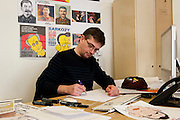 "Charb (Stéphane Charbonnier) directeur de la publication/Director of publication of Charlie Hebdo , Paris. Charlie Hebdo is a French magazine that published cartoons mocking Mohammed and the magazine, which has a circulation of about 55,000, was fire-bombed last year after it published a previous set of cartoons that mocked Islam. France's Muslim leaders and militants protests over the cartoons, and Frances embassies were closed across the Islamic world. The cartoons in Charly Hebdo were published as often violent -- and sometimes deadly --protests continued across the world against an anti-Islam film made in the US that enraged many Muslims. Arab League Secretary-General Nabil Elaraby called the drawings outrageous but said those who were offended by them should ""use peaceful means to express their firm rejection""."