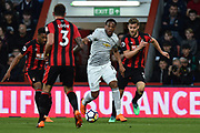 Anthony Martial (11) of Manchester United on the attack during the Premier League match between Bournemouth and Manchester United at the Vitality Stadium, Bournemouth, England on 18 April 2018. Picture by Graham Hunt.