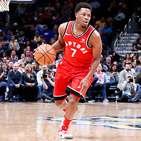 01 November 2017: Toronto Raptors guard Kyle Lowry (7) drives during the Denver Nuggets 129-111 victory over the Toronto Raptors, at the Pepsi Center, Denver, Colorado, USA.
