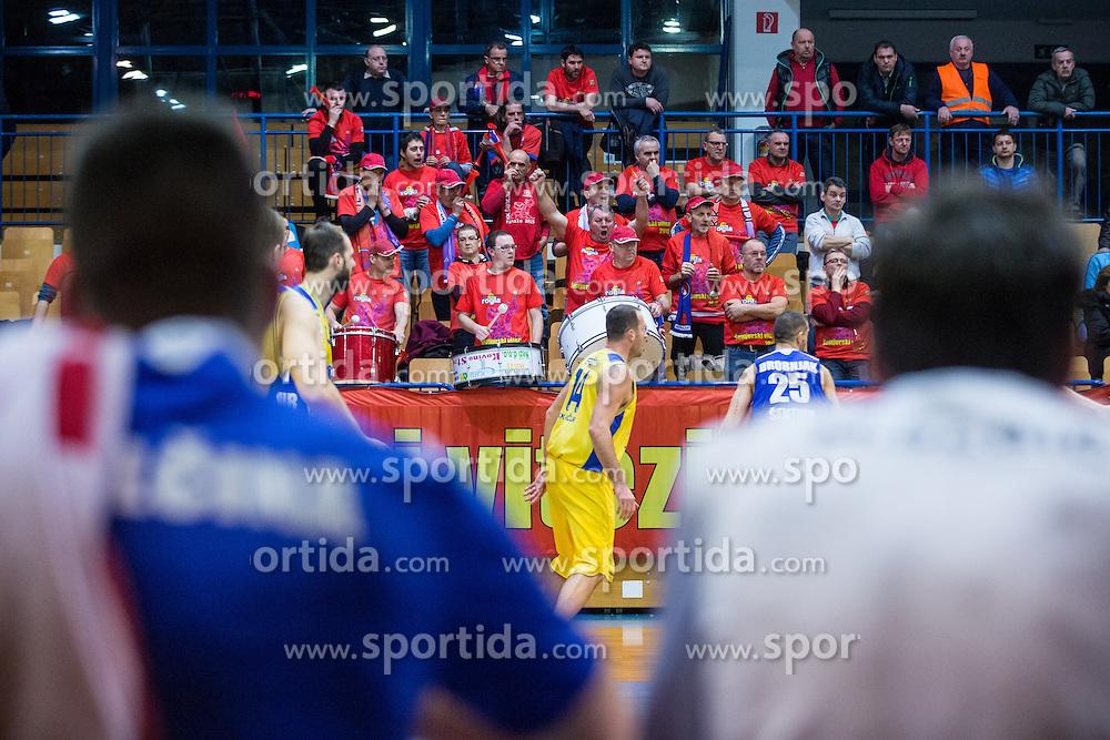 Fans of of KK Tajfun Sentjur during basketball match between KK Sencur  GGD and KK Tajfun Sentjur for Spar cup 2016, on 16th of February , 2016 in Sencur, Sencur Sports hall, Slovenia. Photo by Grega Valancic / Sportida.com