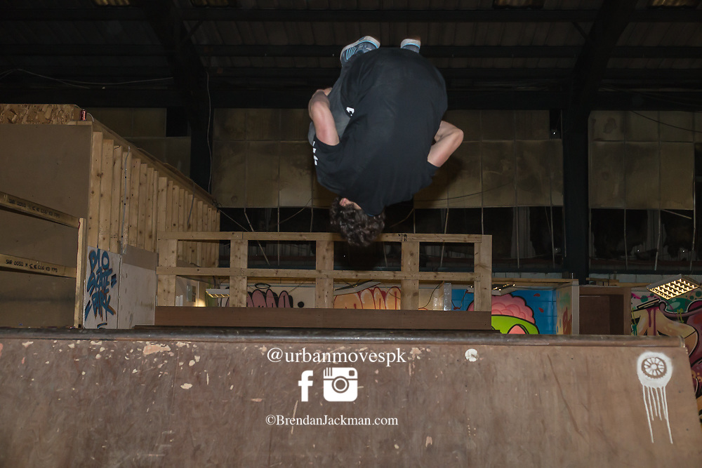 Parkour, Freerunning photography in D10 Dublin, Ireland.
