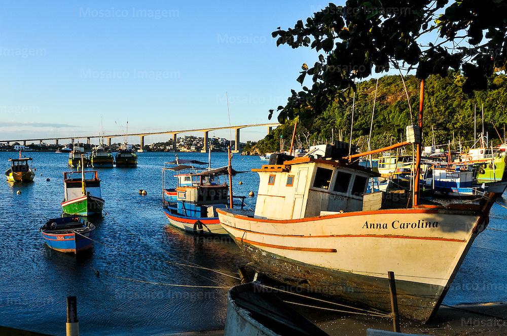 Brasil - Espirito Santo - Vila Velha - Barcos na Prainha de Vila Velha - Foto: Tadeu Bianconi/ Mosaico Imagem