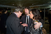 Melvyn Bragg; Sir Trevor Nunn; Arlene Phillips, South Bank Show Awards, Dorchester Hotel, Park Lane. London. 20 January 2009 *** Local Caption *** -DO NOT ARCHIVE-© Copyright Photograph by Dafydd Jones. 248 Clapham Rd. London SW9 0PZ. Tel 0207 820 0771. www.dafjones.com.<br /> Melvyn Bragg; Sir Trevor Nunn; Arlene Phillips, South Bank Show Awards, Dorchester Hotel, Park Lane. London. 20 January 2009