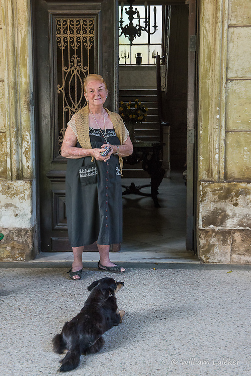A member of the pre-revolution's elite. Well travelled and cultured, she now is able to maintain her sizable home in once fashionable Vedado by allowing photographers and film crews to shoot her home.