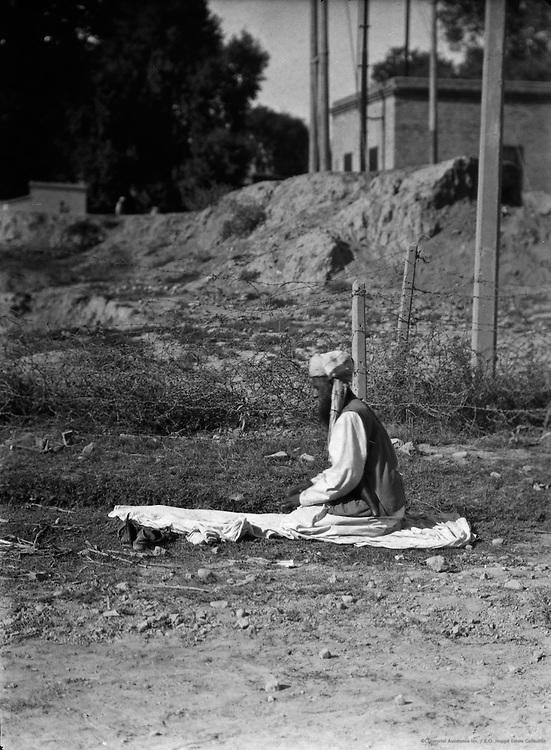 Man Praying, Peshawar, India, 1929