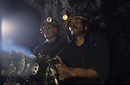 Morocco, workers in a coal mine in the south