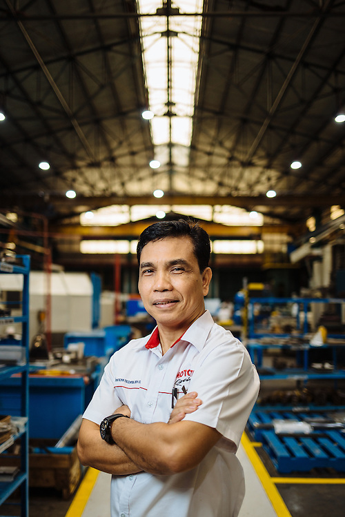 Portrait of Will Bulaclac, Toll Shop Assistant Manager, Ramcar, Philippines.