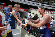 Richard Whitehead GBR in the Mens 200m T42 sets a new world record in 23.03 and signs autographs during the Muller Anniversary Games at the Stadium, Queen Elizabeth Olympic Park, London, United Kingdom on 23 July 2016. Photo by Phil Duncan.