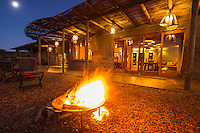 Warming fire at lodge entrance, Gondwana Game Reserve, Western Province, South Africa