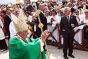 San Giovanni Rotondo 21 Giugno 2009, Visita Pastorale di Sua Santità Papa Benedetto  XVI , Italy San Giovanni Rotondo 21 06 2009, Visit of  Papa Benedetto  XVI in the foto all'arrivo