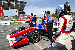 July 13, 2018 - Toronto, Ontario, Canada - TONY KANAAN (14) of Brazil hangs out on pit road prior to practice for the Honda Indy Toronto at Streets of Toronto in Toronto, Ontario. (Credit Image: © Justin R. Noe Asp Inc/ASP via ZUMA Wire)