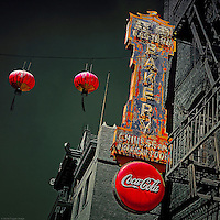 Old street signage in USA
