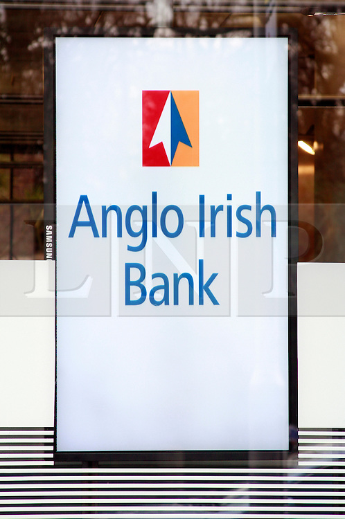 ANGLO IRISH BANK  © London News Pictures 10/01/2011..Irish Prime Minister Brian Cowen is under pressure over his relationship with former Anglo Irish Bank chairman Sen FitzPatrick. Anglo Irish Bank was taken into state ownership in January 2009 and is the largest contributor of assets to the Irish National Asset Management Agency. Picture caption should read Simon Lamrock/LNP