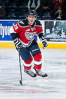 KELOWNA, CANADA -FEBRUARY 19: Braden Purtill #29 of the Tri City Americans skates against the Kelowna Rockets on February 19, 2014 at Prospera Place in Kelowna, British Columbia, Canada.   (Photo by Marissa Baecker/Getty Images)  *** Local Caption *** Braden Purtill;