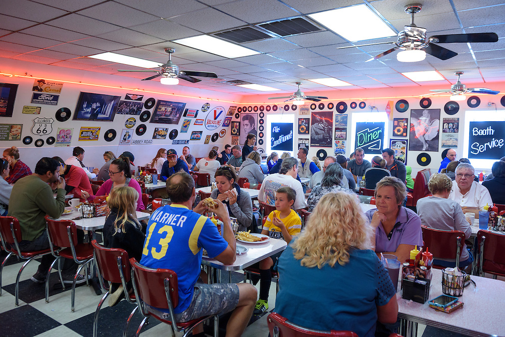 USA,Illinois, Midwest,Route 66, Springfield,Charlie Parkers Diner