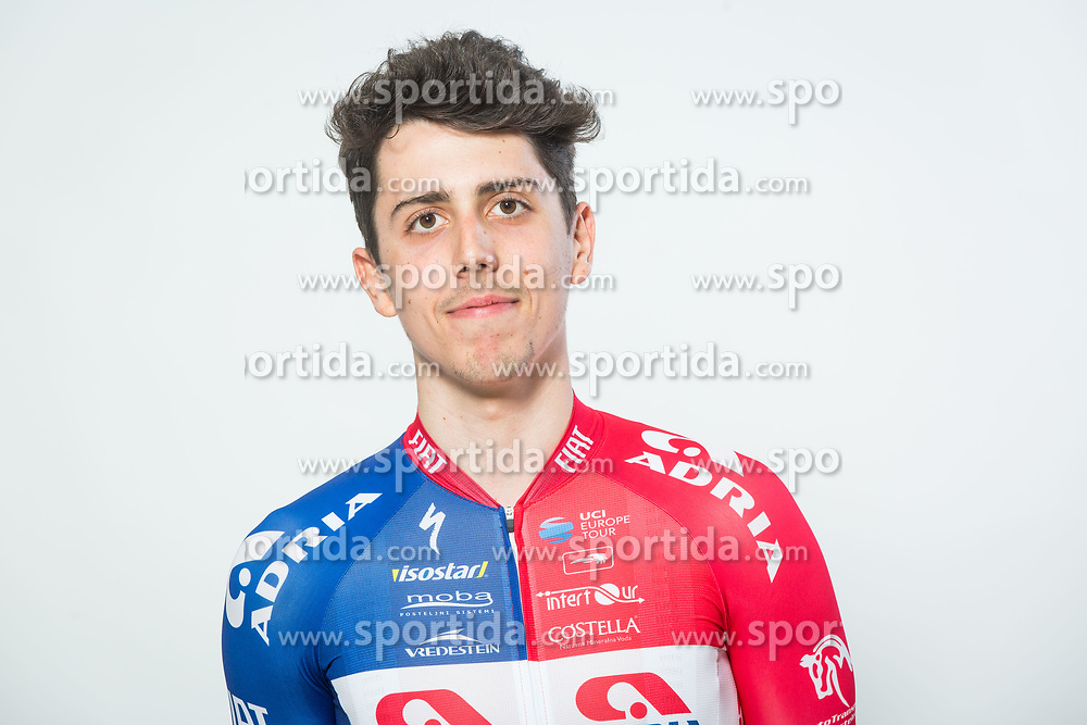 Ziga Horvat during photo session of Cycling Team KK Adria Mobil, on January 22, 2018 in Novo Mesto, Novo Mesto, Slovenia. Photo by Vid Ponikvar / Sportida