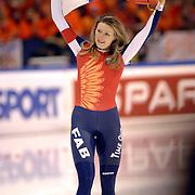 NLD/Heerenveen/20060122 - WK Sprint 2006, 2de 1000 meter dames, Svetlana Zhurova 1e plaats, Zjoerova, wereldkampioene, rusland, russia