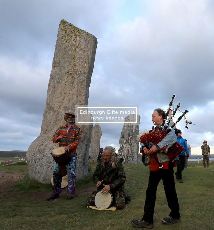 Celebrating the summer solstice at the 5000 year old Callanish Standing Stones, Isle of Lewis ........ (c) Stephen Lawson | Edinburgh Elite media