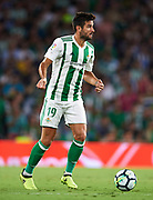 SEVILLE, SPAIN - SEPTEMBER 25:  Antonio Barragan of Real Betis Balompie in action during the La Liga match between Real Betis and Levante at Estadio Benito Villamarin on September 25, 2017 in Seville, .  (Photo by Aitor Alcalde Colomer/Getty Images)