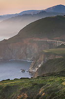 Classic view of the rugged coastal headlands of Big Sur California