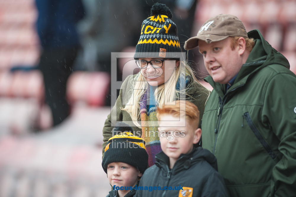 Hull City fans prior to the Sky Bet Championship match at Oakwell, Barnsley between Barnsley and Hull City<br /> Picture by Matt Wilkinson/Focus Images Ltd 07814 960751<br /> 21/10/2017