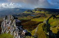 SCOTLAND - CIRCA APRIL 2016:The Quiraing a popular tourist attraction near Staffin in Skye an Island in Scotland