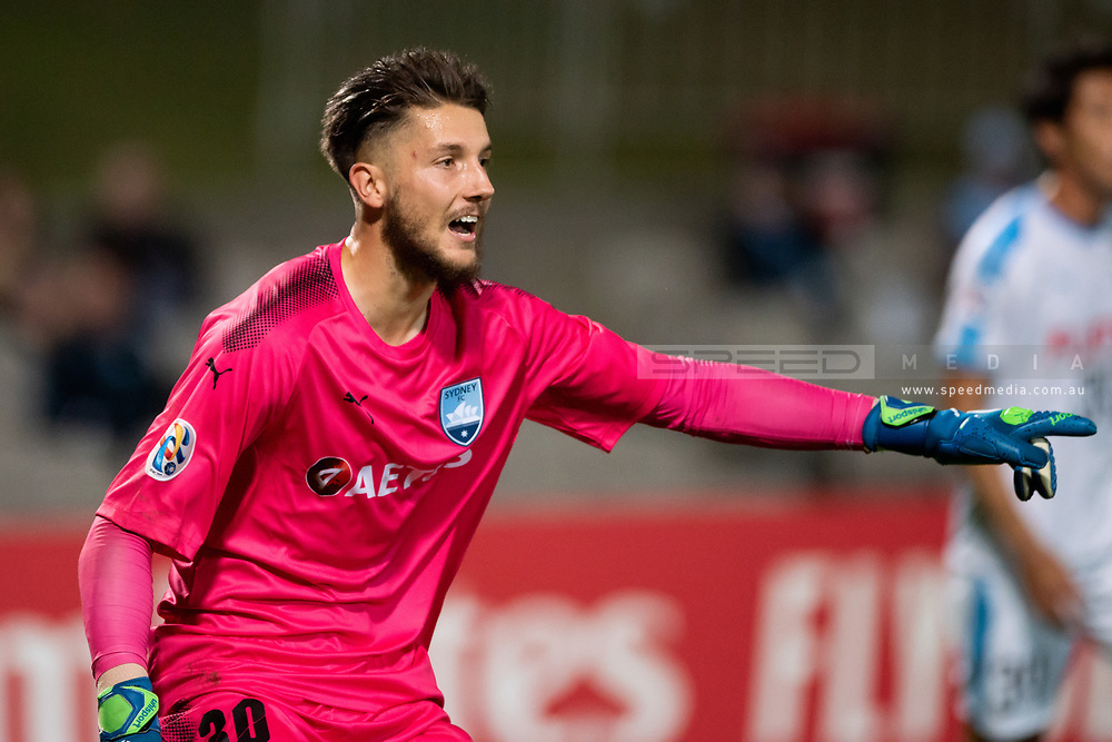 SYDNEY, AUSTRALIA - MAY 21: Sydney FC player Thomas Heward-Belle (30) calls out to his players at AFC Champions League Soccer between Sydney FC and Kawasaki Frontale on May 21, 2019 at Netstrata Jubilee Stadium, NSW. (Photo by Speed Media/Icon Sportswire)