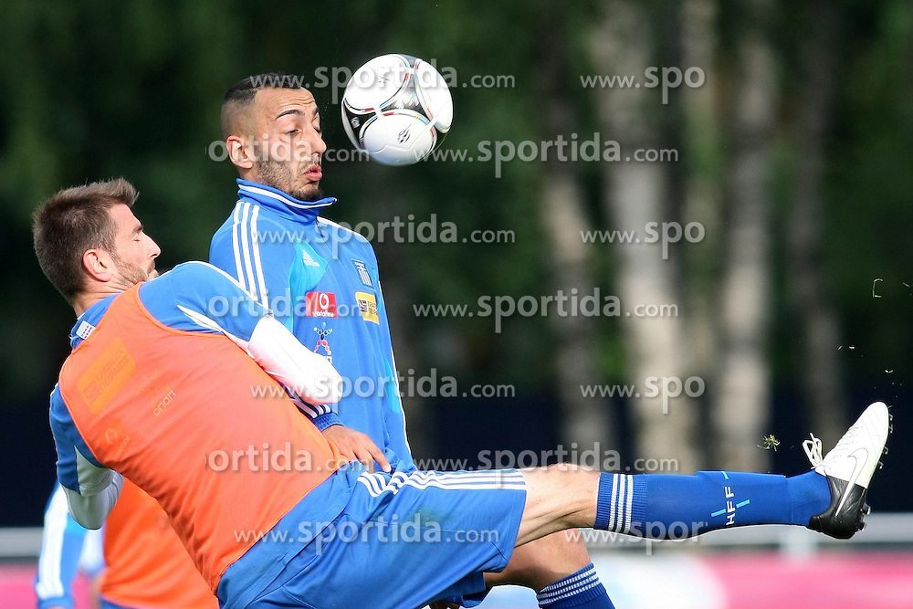 05.06.2012, Staedtisches Stadion, Legionowo, POL, UEFA EURO 2012, Griechenland, Training, im Bild STYLIANOS MALEZAS KONSTANTINOS MITROGLOU // during EURO 2012 Trainingssession of Polish Nationalteam, at the City Stadium, Legionowo, Poland on 2012/06/05. EXPA Pictures © 2012, PhotoCredit: EXPA/ Newspix/ Piotr Kucza..***** ATTENTION - for AUT, SLO, CRO, SRB, SUI and SWE only *****