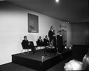 1972.07/01/1972.01/07/1972.7th January 1972.The Aer lingus Young Scientist Exhibition at the RDS, Dublin..George Colley T.D. Minister for Finance speaking at the eighth annual Young Scientist Exhibition. ..